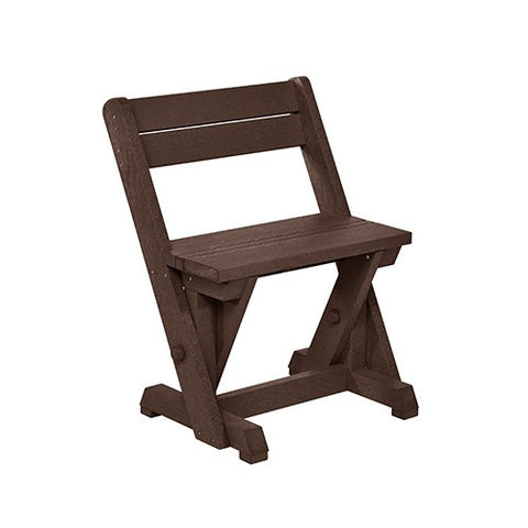 CR PLASTICS C202 DINING CHAIR W/ BACK CHOCOLATE