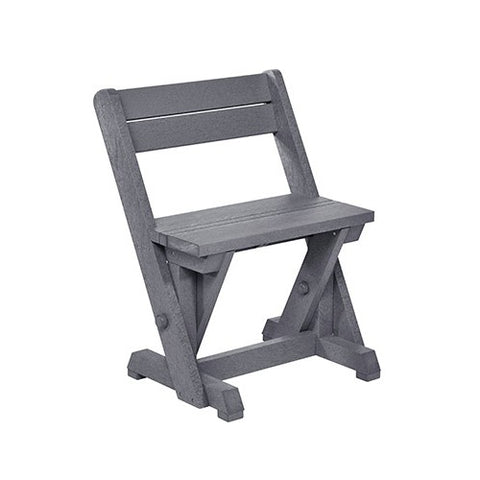 CR PLASTICS C202 DINING CHAIR W/ BACK SLATE GREY
