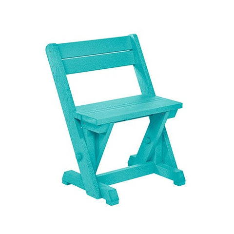 CR PLASTICS C202 DINING CHAIR W/ BACK TURQUOISE