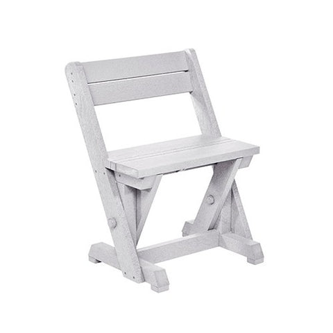 CR PLASTICS C202 DINING CHAIR W/ BACK WHITE