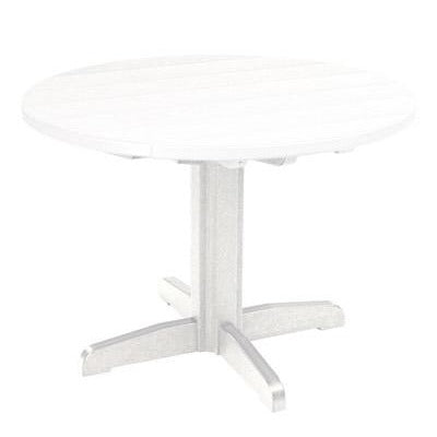 "TB12 30"" DINING PEDESTAL BASE WHITE 02 CR PLASTIC OUTDOOR FURNITURE"