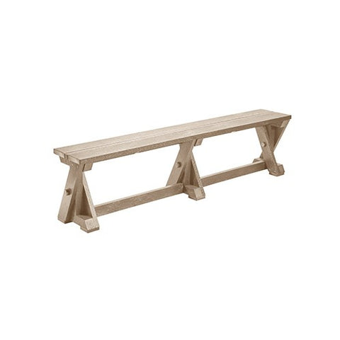 B201 DINING TABLE BENCH BEIGE CR PLASTICS OUTDOOR FURNITURE