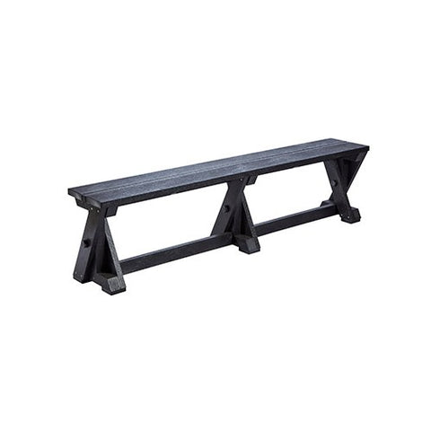 B201 DINING TABLE BENCH BLACK CR PLASTICS OUTDOOR FURNITURE