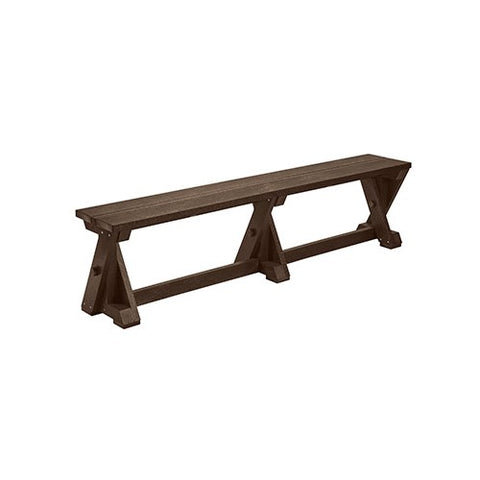 B201 DINING TABLE BENCH CHOCOLATE CR PLASTICS OUTDOOR FURNITURE