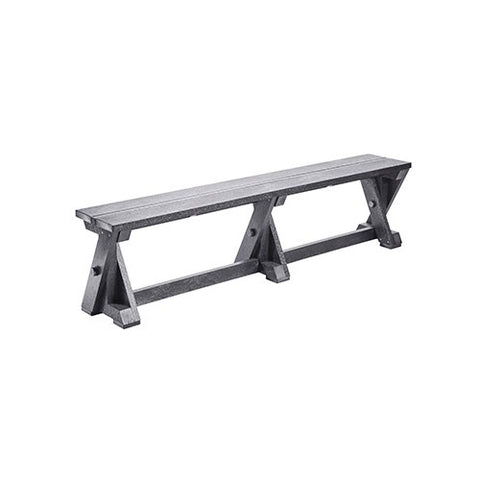 B201 DINING TABLE BENCH SLATE GREY CR PLASTICS OUTDOOR FURNITURE