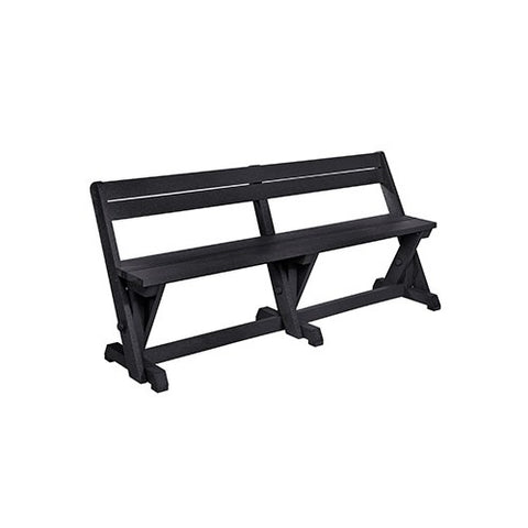 B202 DINING TABLE BENCH WITH BACK BLACK
