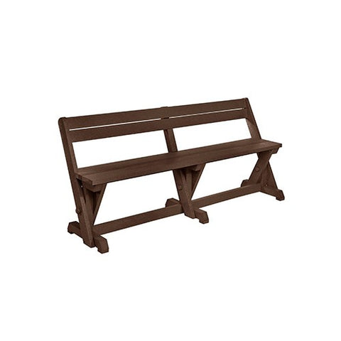 B202 DINING TABLE BENCH WITH BACK CHOCOLATE