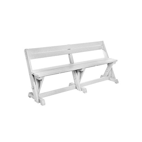 B202 DINING TABLE BENCH WITH BACK WHITE