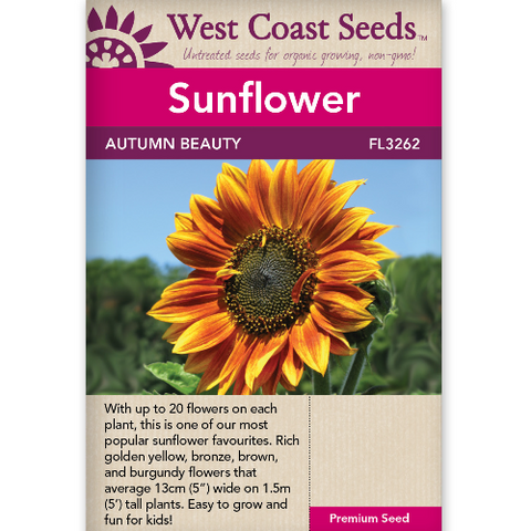 Sunflower Autumn Beauty - West Coast Seeds