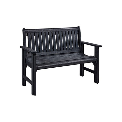 B01 4' GARDEN BENCH BLACK | CR PLASTICS