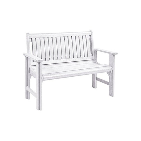 B01 4' GARDEN BENCH White | CR PLASTICS