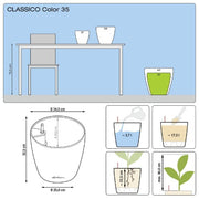 Lechuza Classico Color 35 Lechuza Self Watering Planter