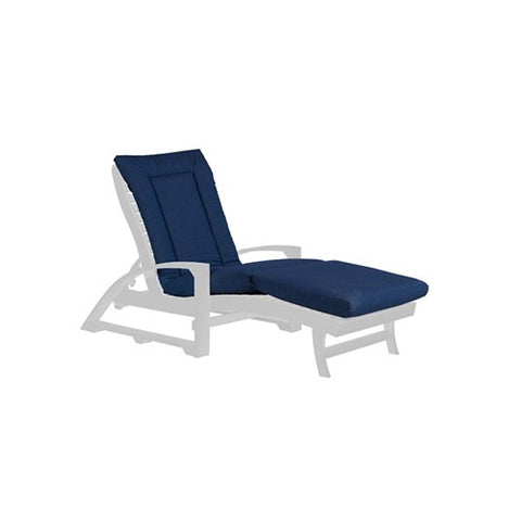 LP01 CHAISE LOUNGE CUSHION CANVAS NAVY-5439 C.R. PLASTICS OUTDOOR FURNITURE