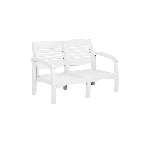CR PLASTICS DSF162 LOVESEAT FRAME WHITE