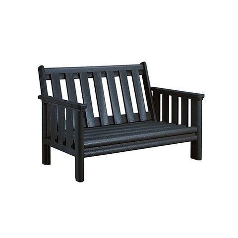 CR PLASTICS DSF142 LOVESEAT FRAME BLACK