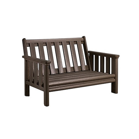 CR PLASTICS DSF142 LOVESEAT FRAME CHOCOLATE