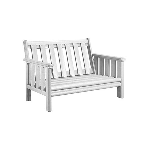 CR PLASTICS DSF142 LOVESEAT FRAME WHITE