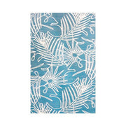 CR PLASTICS OUTDOOR MATS Palm Design Turquoise - 40