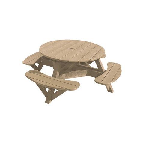 T50 PICNIC TABLE (colour frame) Beige 07 CR Plastics Outdoor Furniture
