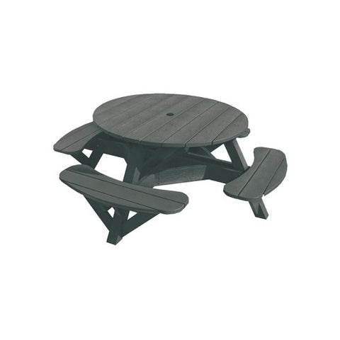 T50 PICNIC TABLE (colour frame) SLATE GRAY 18 CR PLASTICS OUTDOOR FURNITURE