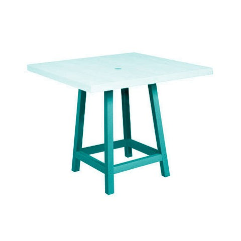 "TB22 37"" PUB LEGS (for use with TT13 only) TURQUOISE 09 CR PLASTICS OUTDOOR FURNITURE"