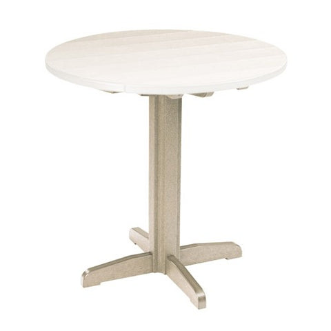 "TB13 40"" PUB PEDESTAL BASE BEIGE 07 CR PLASTICS OUTDOOR FURNITURE"