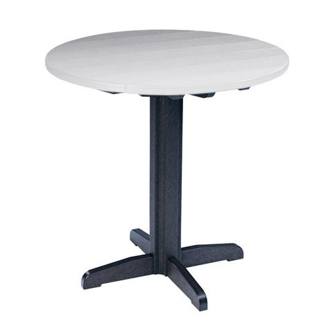 "TB13 40"" PUB PEDESTAL BASE BLACK 14 CR PLASTICS OUTDOOR FURNITURE"