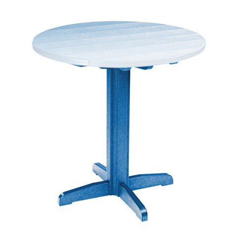 "TB13 40"" PUB PEDESTAL BASE BLUE 03 CR PLASTICS OUTDOOR FURNITURE"