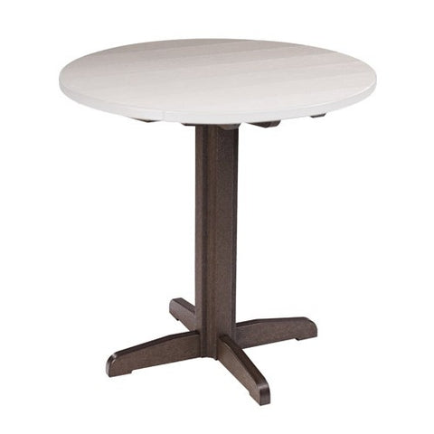 "TB13 40"" PUB PEDESTAL BASE CHOCOLATE 16 CR PLASTICS OUTDOOR FURNITURE"
