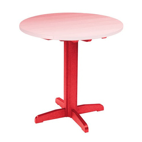 "TB13 40"" PUB PEDESTAL BASE RED 01 CR PLASTICS OUTDOOR FURNITURE"