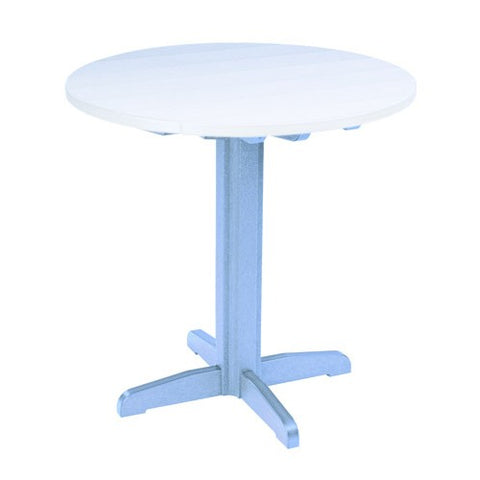 "TB13 40"" PUB PEDESTAL BASE SKY BLUE 12 CR PLASTICS OUTDOOR FURNITURE"
