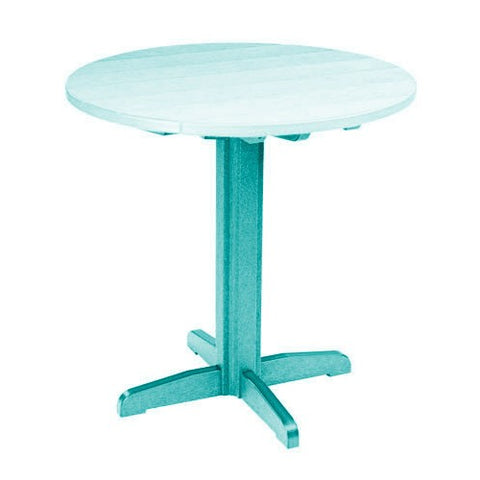 "TB13 40"" PUB PEDESTAL BASE TURQUOISE 09 CR PLASTICS OUTDOOR FURNITURE"
