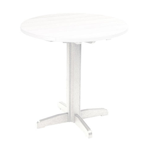 "TB13 40"" PUB PEDESTAL BASE WHITE 02 CR PLASTICS OUTDOOR FURNITURE"