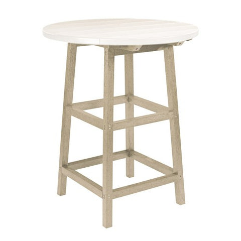 "TB03 40"" PUB TABLE LEGS BEIGE 07 CR PLASTICS OUTDOOR FURNITURE"