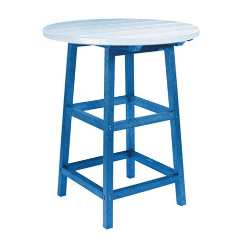 "TB03 40"" PUB TABLE LEGS BLUE 03 CR PLASTICS OUTDOOR FURNITURE"