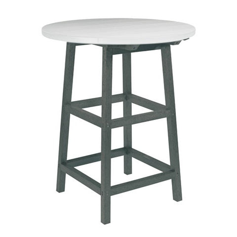 "TB03 40"" PUB TABLE LEGS SLATE GRAY CR PLASTICS OUTDOOR FURNITURE"