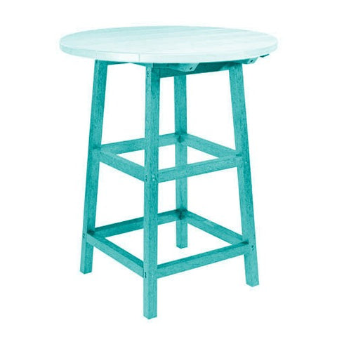"TB03 40"" PUB TABLE LEGS TURQUOISE 09 CR PLASTICS OUTDOOR FURNITURE"