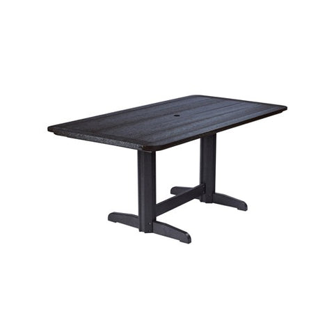 "T11 72"" RECTANGULAR DINING TABLE BLACK 14"