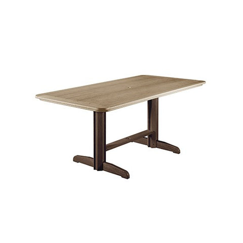 "T11 72"" RECTANGULAR DINING TABLE CHOCOLATE/BEIGE"