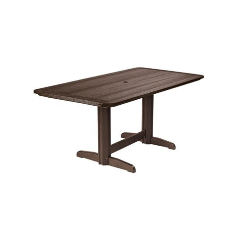 "T11 72"" RECTANGULAR DINING TABLE CHOCOLATE 16"