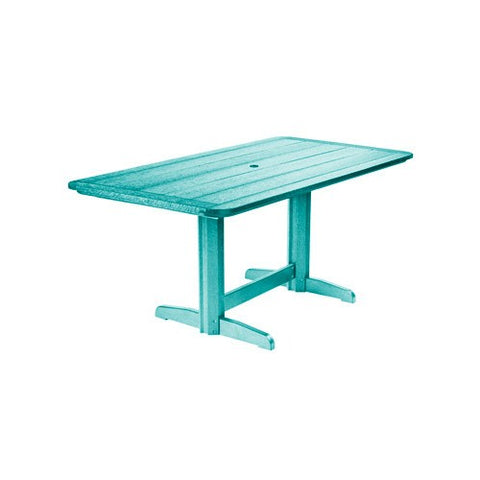 "T11 72"" RECTANGULAR DINING TABLE TURQUOISE 09"