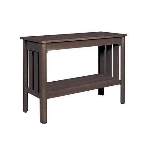 "CR PLASTICS DST149 44"" SOFA TABLE BROWN"