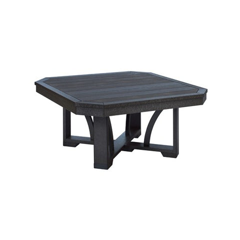 "T30 35"" SQUARE COCKTAIL TABLE BLACK 14"