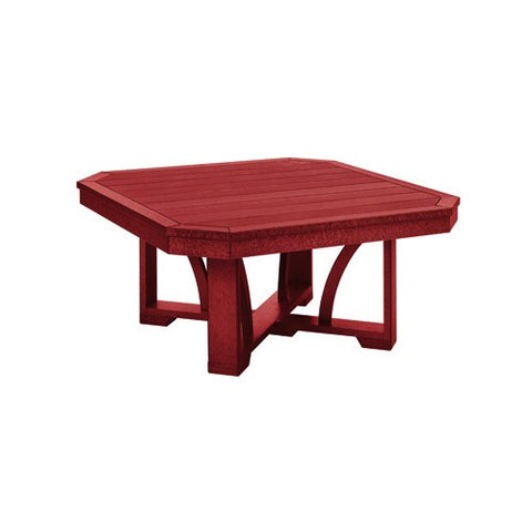 "T30 35"" SQUARE COCKTAIL TABLE BURGUNDY 05"