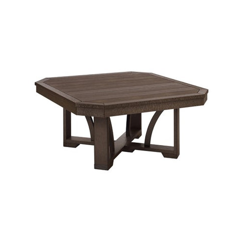 "T30 35"" SQUARE COCKTAIL TABLE CHOCOLATE 16"