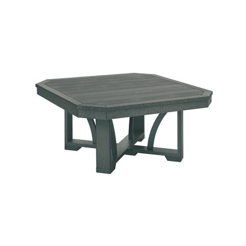 "T30 35"" SQUARE COCKTAIL TABLE SLATE GRAY 18"