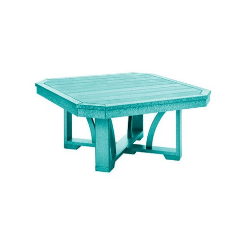 "T30 35"" SQUARE COCKTAIL TABLE TURQUOISE 09"