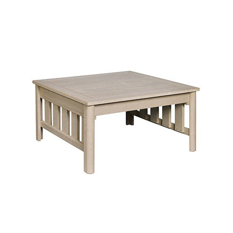 "CR PLASTICS DST150 36"" SQUARE COCKTAIL TABLE BEIGE"