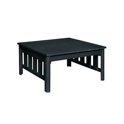 "CR PLASTICS DST150 36"" SQUARE COCKTAIL TABLE BLACK"