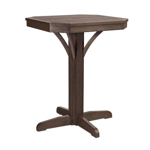 "T36 28"" SQUARE COUNTER PEDESTAL - ST. TROPEZ CHOCOLATE 16"